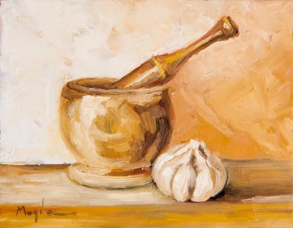 Picturi decor Pictura in ulei originala - usturoi