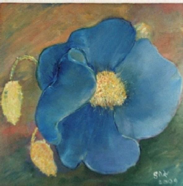Picturi decor Floare albastra