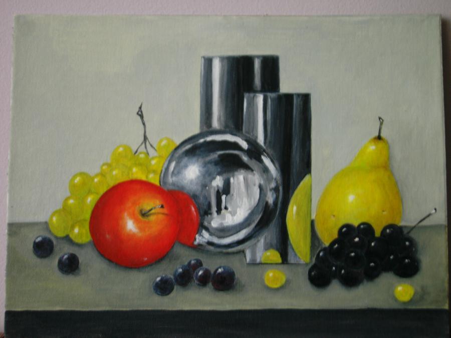 Picturi decor fructe si obiecte de argint