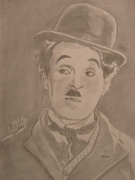 Picturi in creion / carbune Charlie chaplin