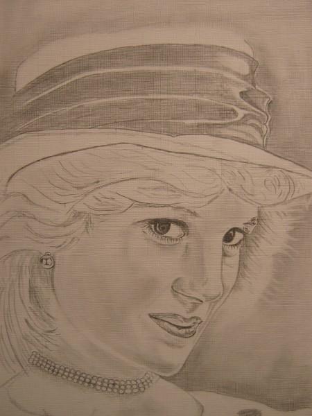 Picturi in creion / carbune Lady d