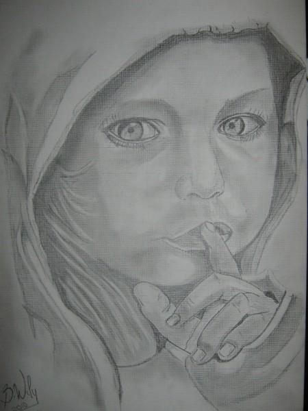Picturi in creion / carbune Liniste