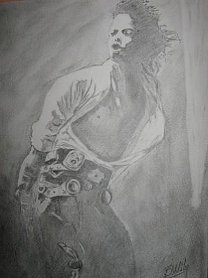 Picturi in creion / carbune Michael jackson in concert