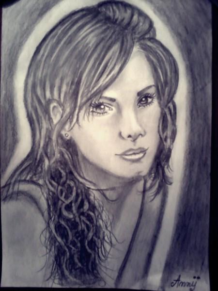 Picturi in creion / carbune Sandra bullock