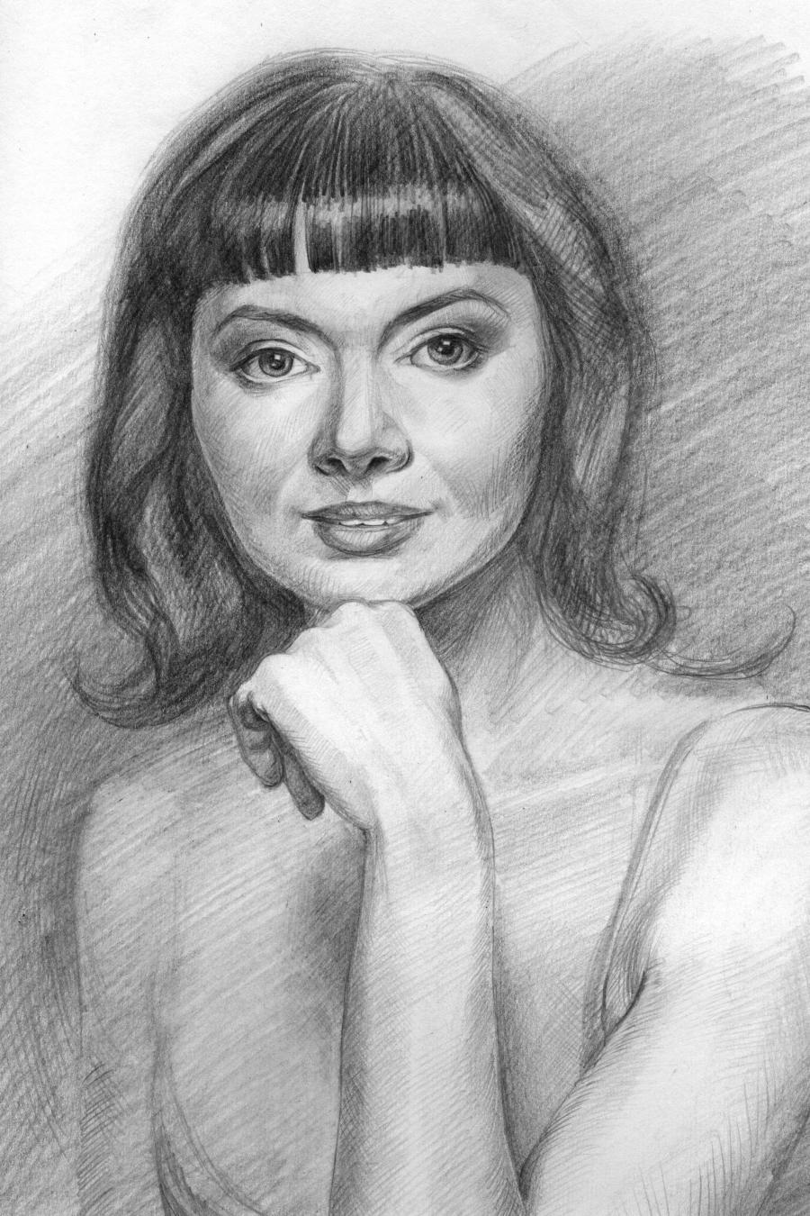 Picturi in creion / carbune Portret in creion