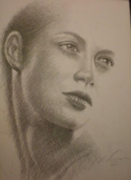 Picturi in creion / carbune Desen fata