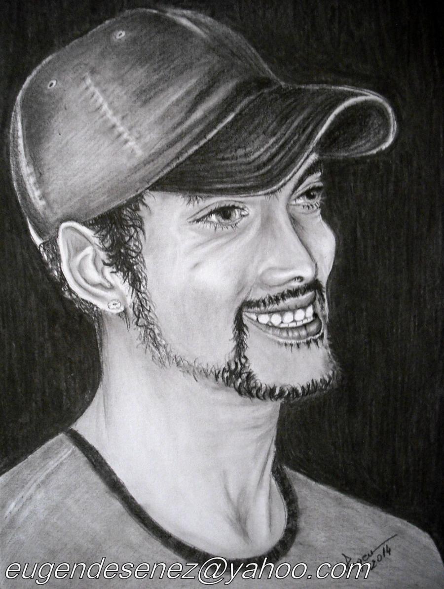 Picturi in creion / carbune portret de actor?