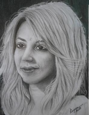Picturi in creion / carbune Shakira 2