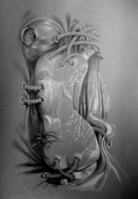 Picturi in creion / carbune Paiangenul