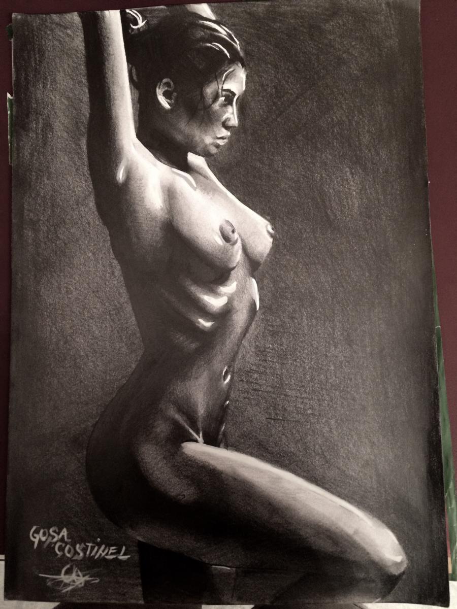 Picturi in creion / carbune Nud