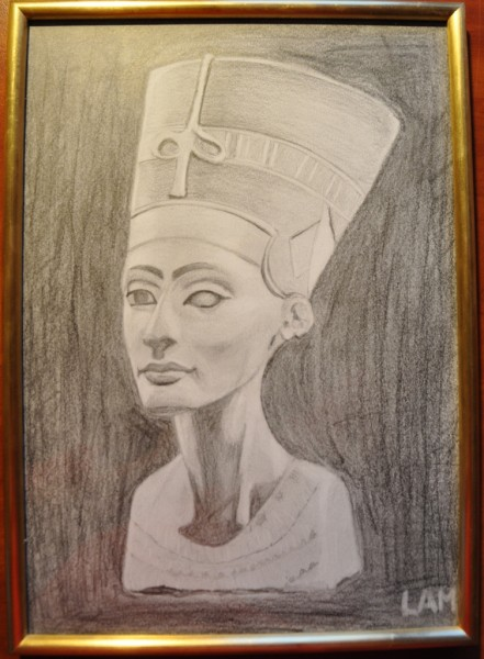 Picturi in creion / carbune Nefertiti