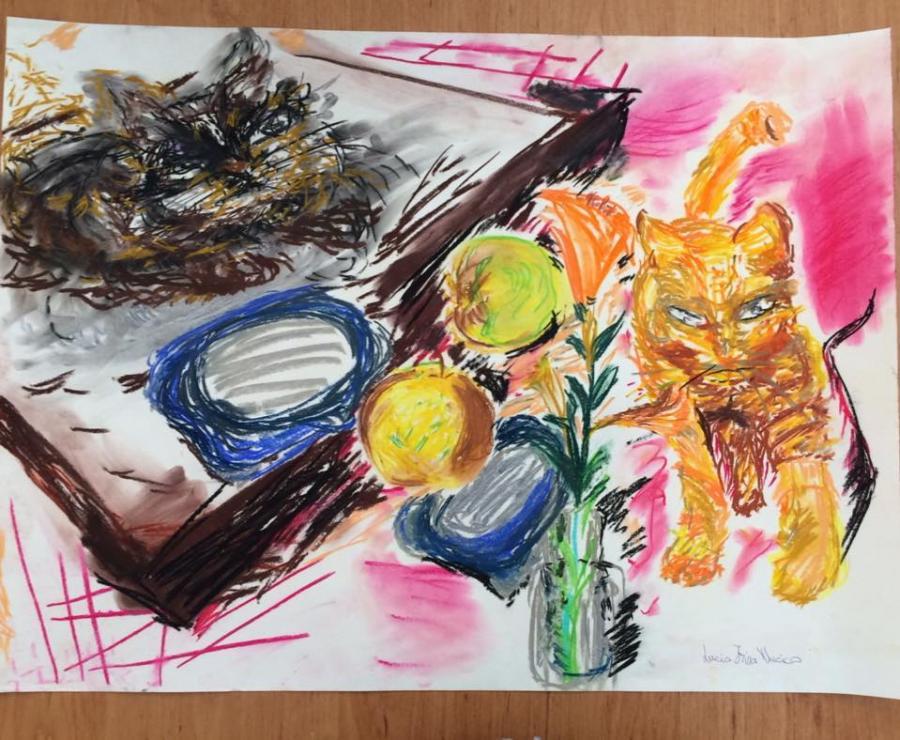 Picturi in creion / carbune Pisoii