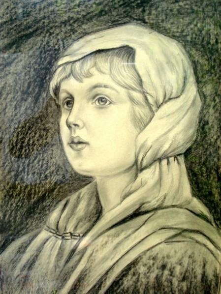 Picturi in creion / carbune Portet1