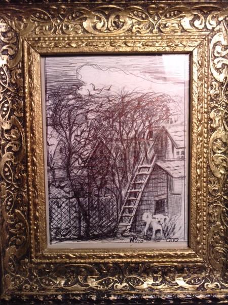 Picturi in creion / carbune Nino