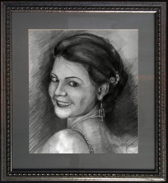 Picturi in creion / carbune Olga