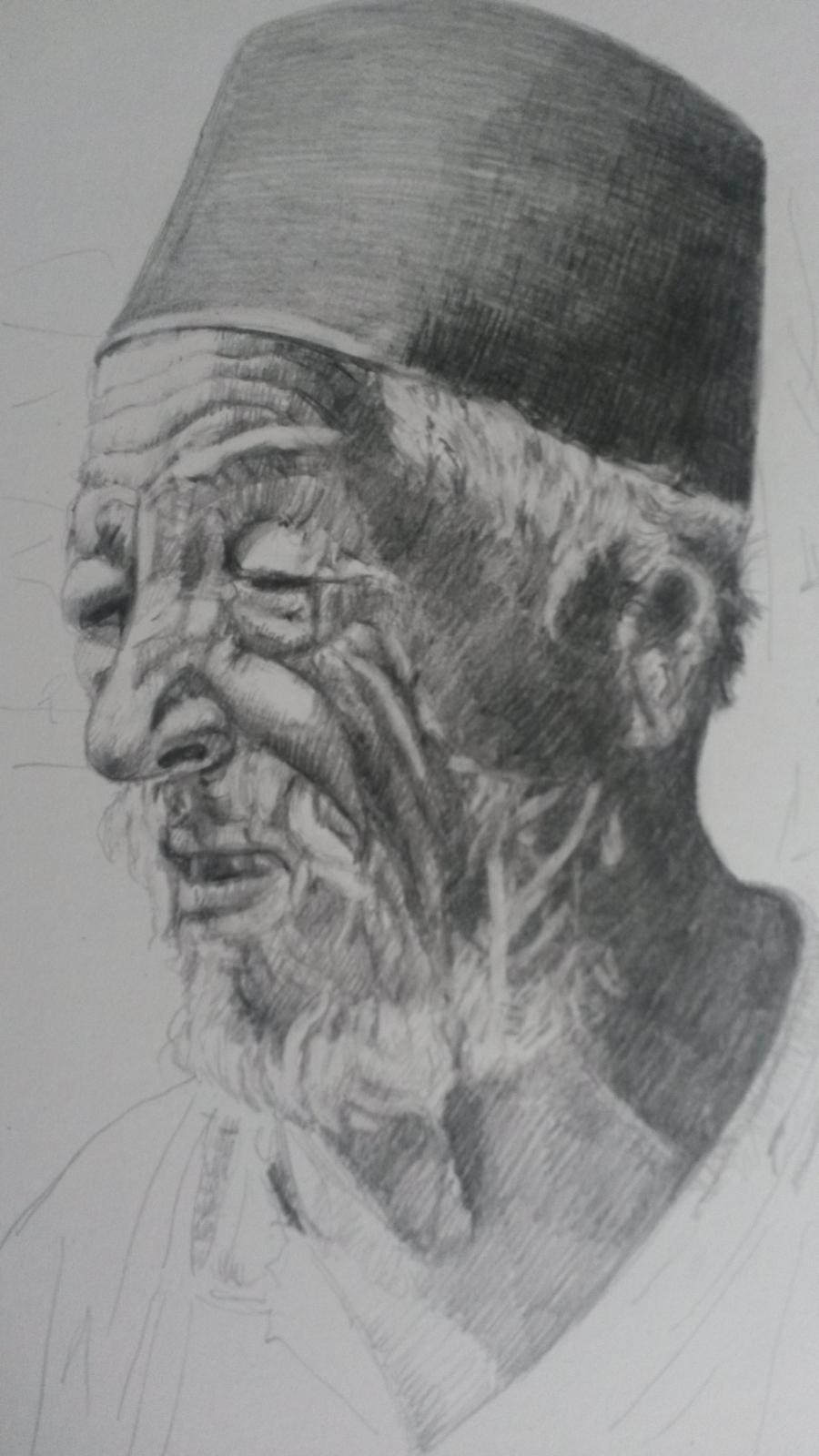 Picturi in creion / carbune Turc din Ada Kaleh