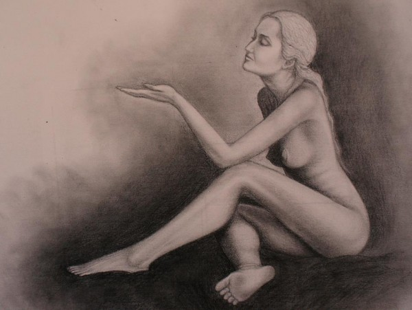 Picturi in creion / carbune Ana
