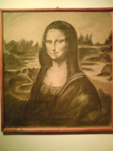 Picturi in creion / carbune Mona lisa