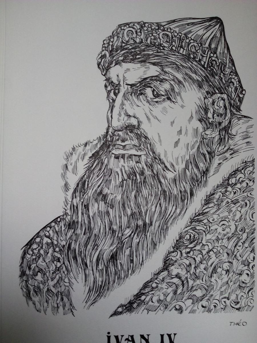 Picturi alb negru Ivan
