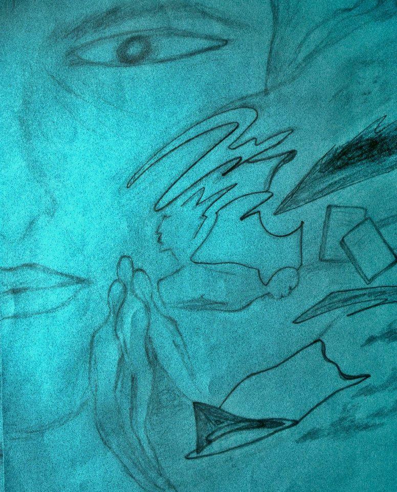 Picturi in creion / carbune Visul