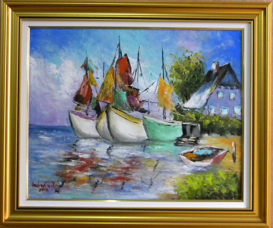 Picturi maritime navale MICUL PORT 2