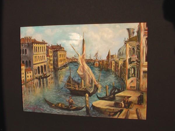 Picturi maritime navale Peisaj venetian 2