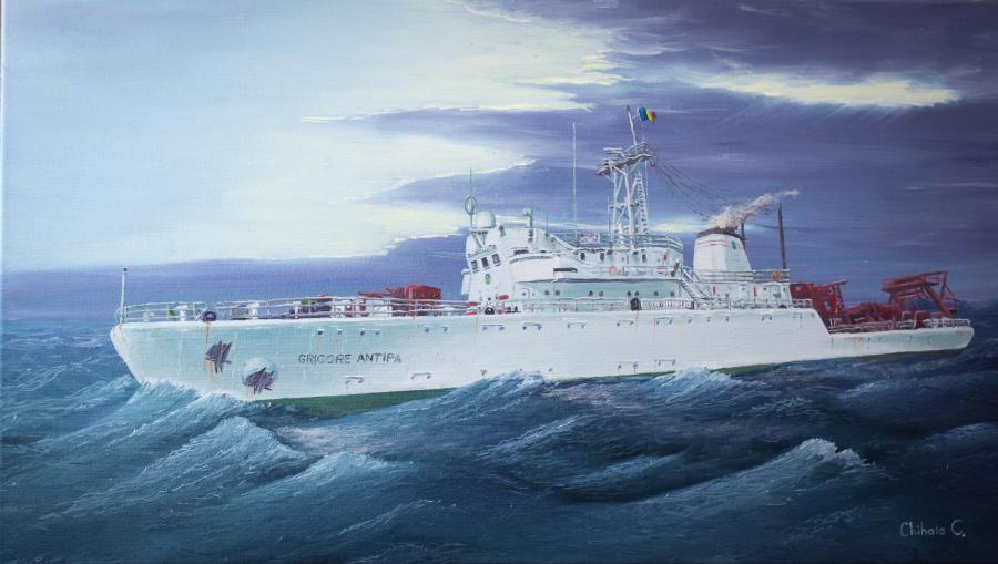 Picturi maritime navale Grigore Antipa
