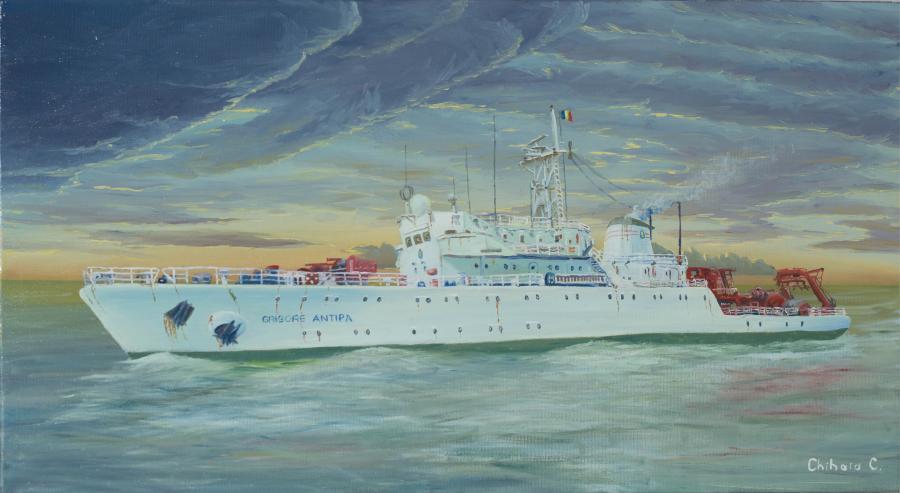 Picturi maritime navale Grigore Antipa (2)