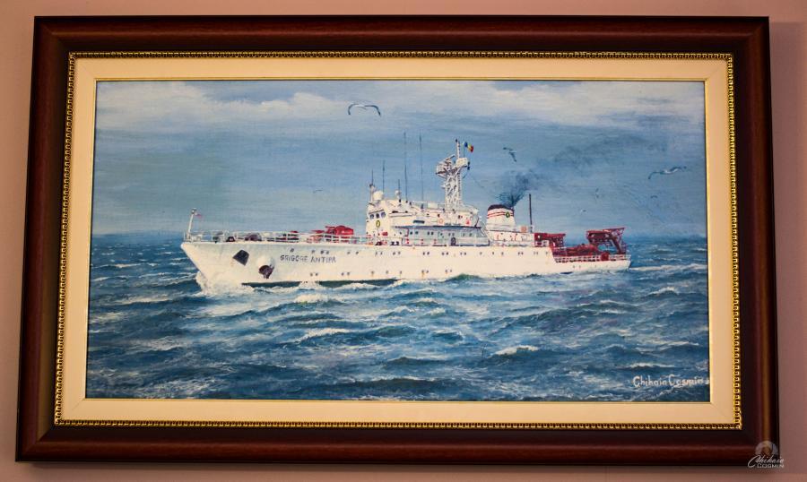 Picturi maritime navale Nava Grigore Antipa