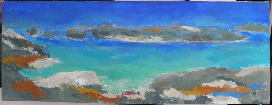 Picturi maritime navale Laguna albastra
