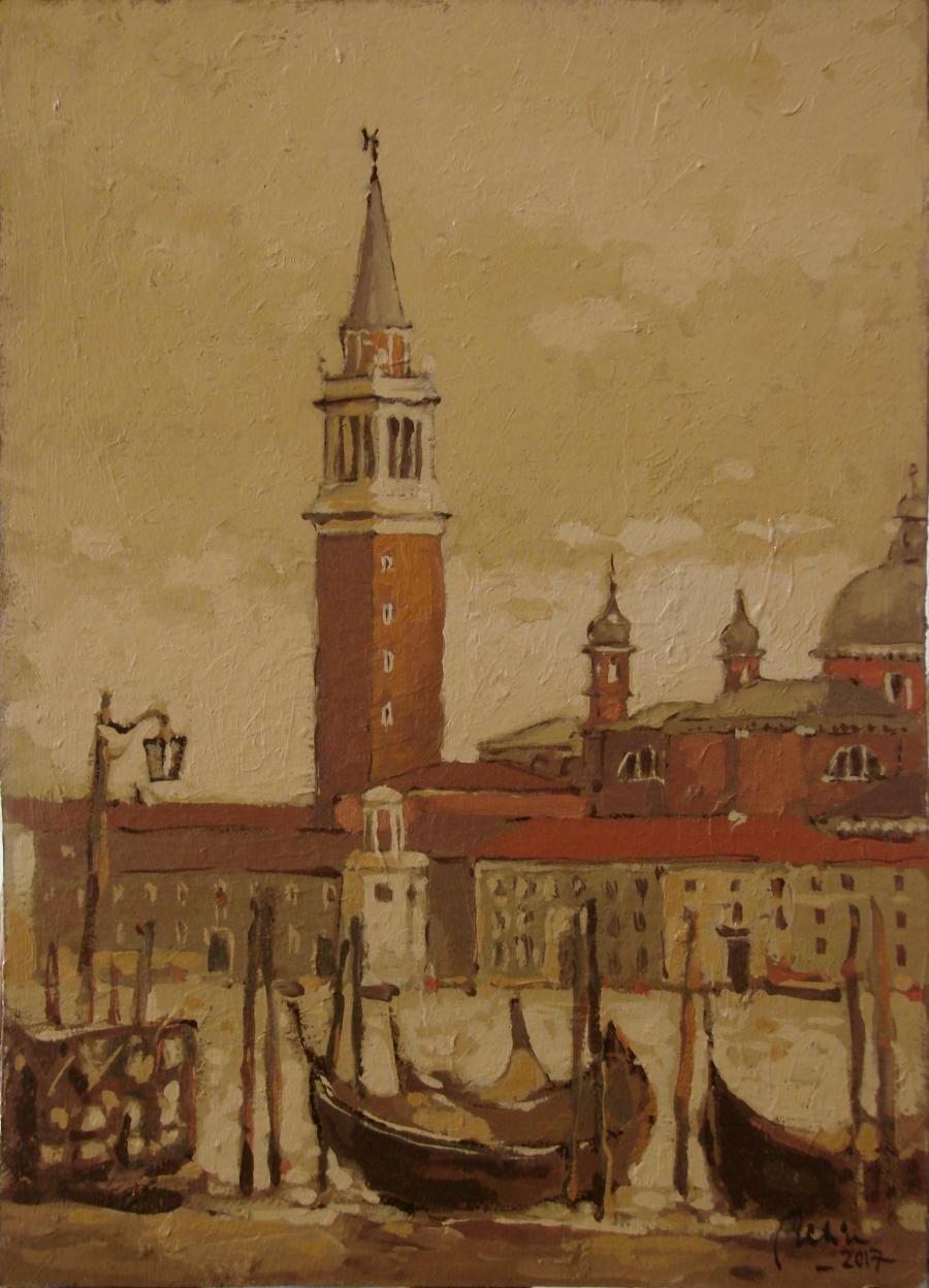 Picturi maritime navale Campanilul San Marco,Venetia