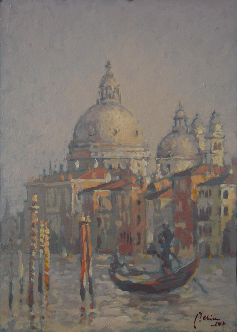 Picturi maritime navale Peisaj in Venetia