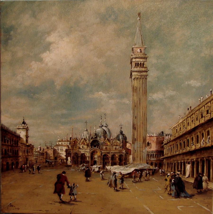 Picturi cu peisaje Piazza San Marco ...copie dupa Canaletto