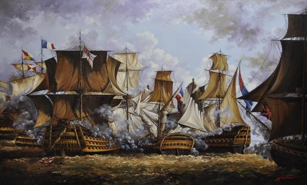 Picturi maritime navale Batalia de la trafalgar