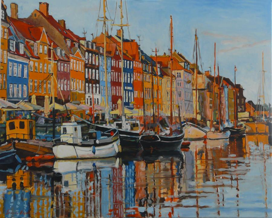 Picturi maritime navale Nyhavn