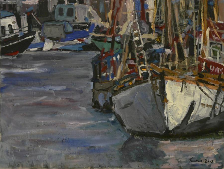 Picturi maritime navale Port inghetat 1