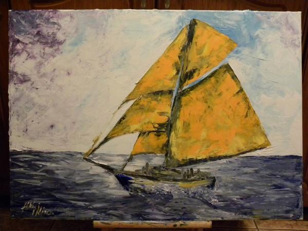 Picturi maritime navale Prima iubire
