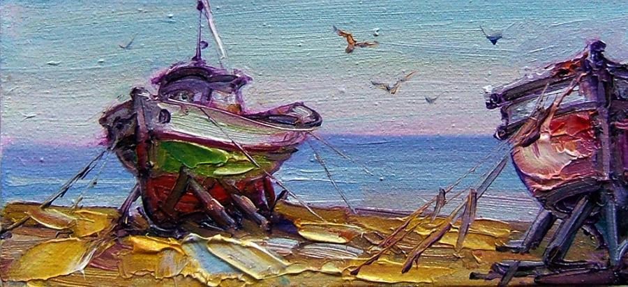 Picturi maritime navale vase pescaresti