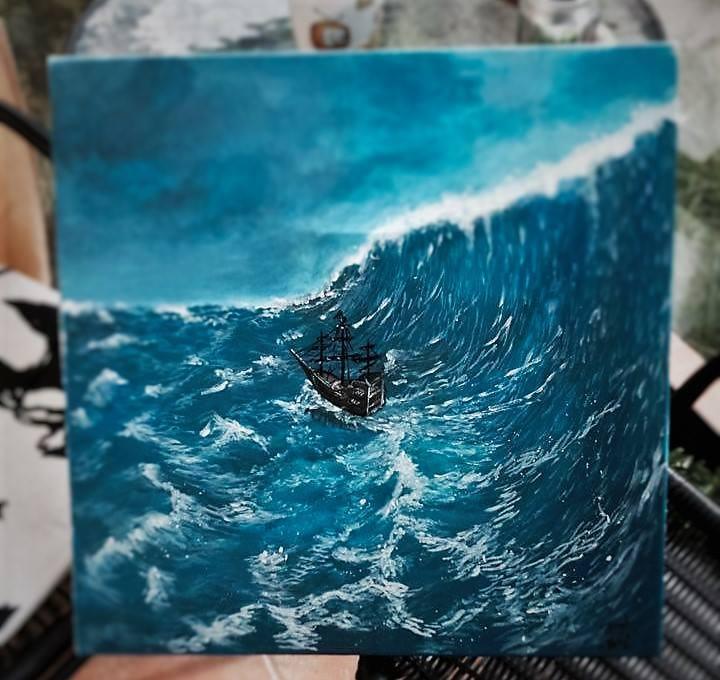 Picturi maritime navale The Escape