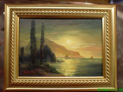 Picturi maritime navale Apus 2