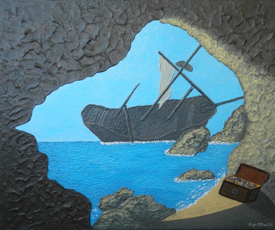 Picturi maritime navale Pestera interzisa