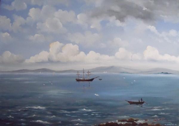 Picturi maritime navale Navala 1