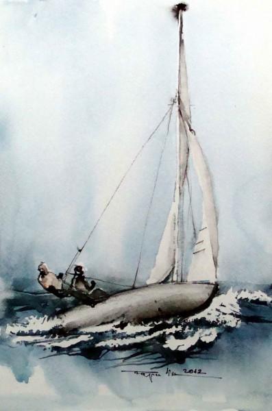 Picturi acuarela In trapez