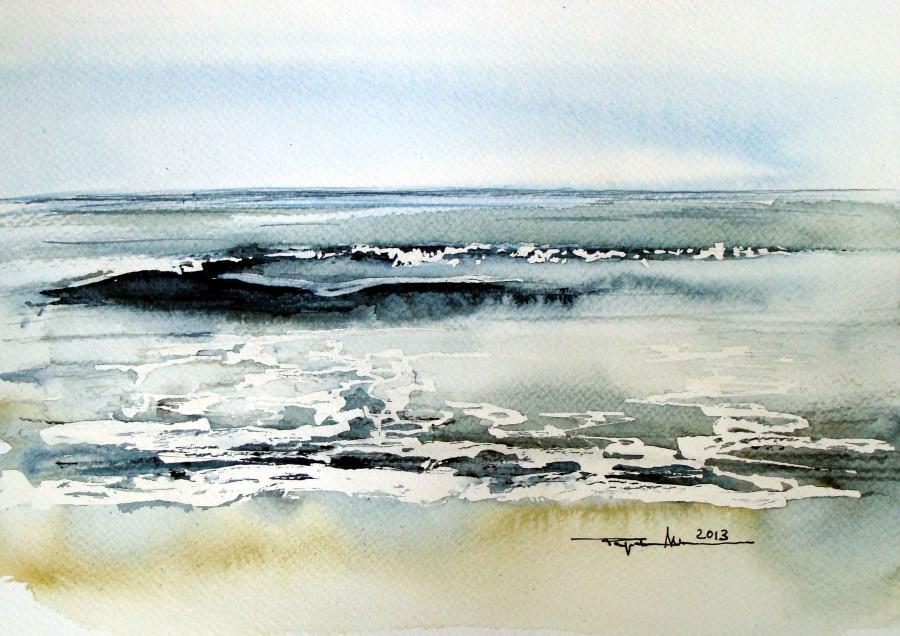Picturi acuarela Marea Neagra la Vadu