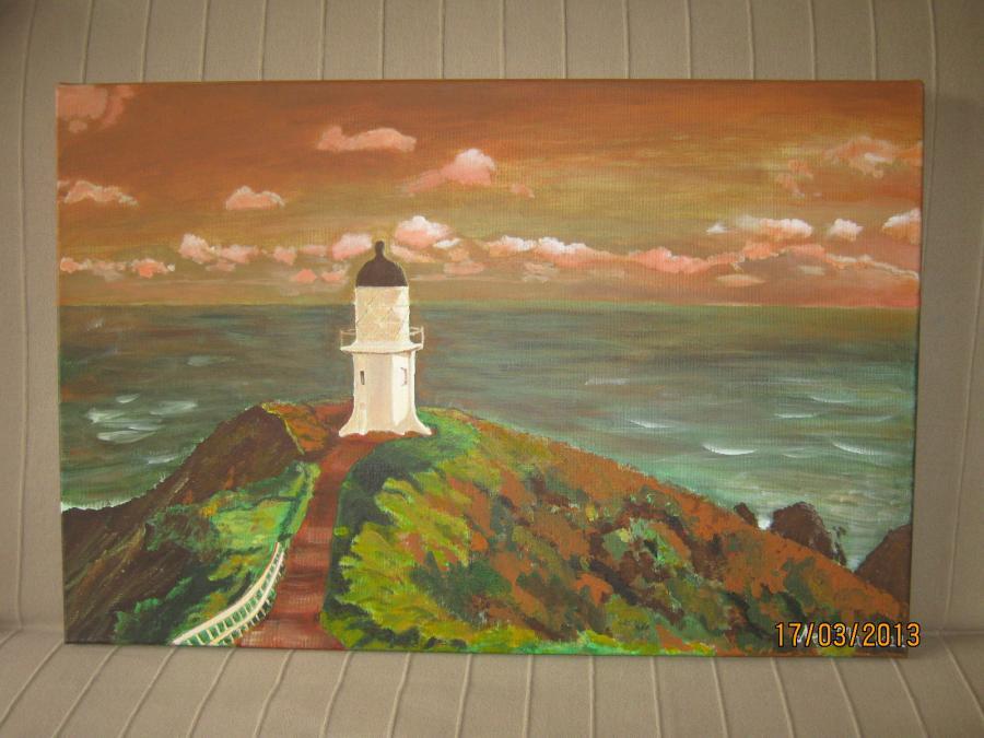 Picturi maritime navale Far in asfintit