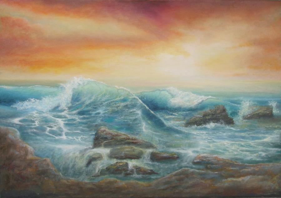 Picturi maritime navale valuri la MINOTA