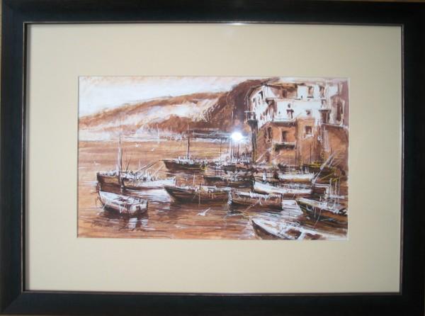 Picturi maritime navale Port pescaresc