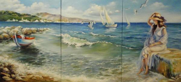 Picturi maritime navale La mal...