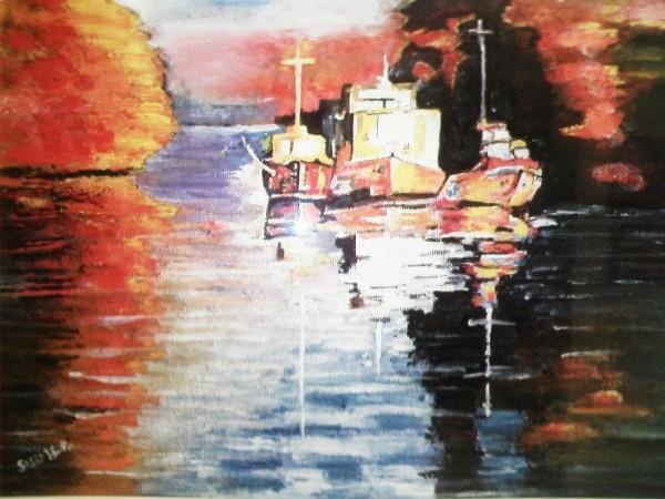 Picturi maritime navale Barja