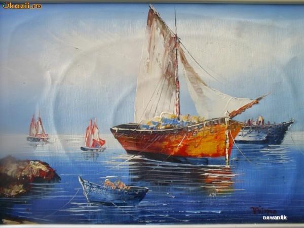 Picturi maritime navale Barci pe mare